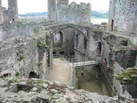conwy castle interior view from castle walls